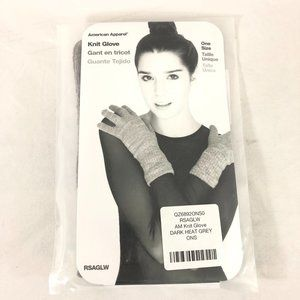 American Apparel Knit Gloves Gray One Size